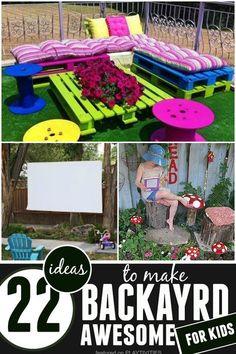 Merveilleux DIY Backyard Ideas For Kids