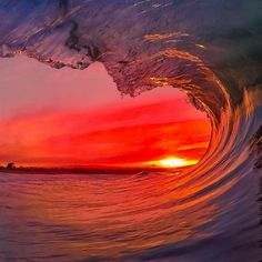Read More About GoPro sunset Photo: Santa Cruz Waves - high enough to see the sea Surf Mar, Beautiful World, Beautiful Places, Beautiful Scenery, Landscape Photography, Nature Photography, Beautiful Sunrise, Sunset Photos, Ocean Waves