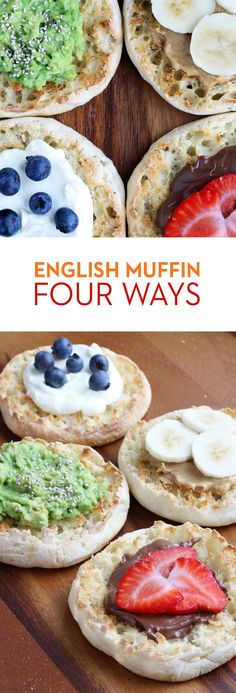 English Muffin 4 Ways: The toppabilities of Thomas' English Muffins are endless! Try trendy mashed avocado with chia seeds or classic peanut butter with bananas. Indulge in chocolate spread with fresh strawberries, or delight in Greek yogurt with blueberries. Any way you top it, it's uniquely yours!