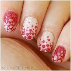 red & white nail design - dots nailart