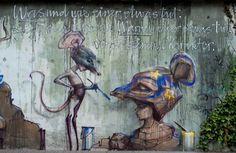 Herakut in Bad Vilbel – Ergebnisse | Dosenkunst – Graffiti im Rhein-Main-Gebiet