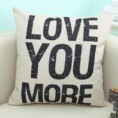 #RoseWholesale - #Rosewholesale English Quote Design Sofa Pillow Case - AdoreWe.com