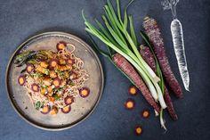 Général Tao Tofu, Grill Pan, Pasta Salad, Grilling, Ethnic Recipes, Kitchen, Inspiration, Yummy Recipes, Chicken