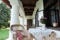 Parasztház veranda berendezése