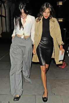 June 6 2014 -Daisy Lowe and Alexa Chung out in London,