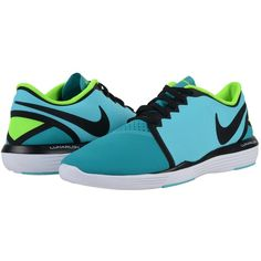 Nike Lunar Sculpt (Gamma Blue/Energy/Electric Green/Black) Women's... ($90) ❤ liked on Polyvore featuring shoes, athletic shoes, blue athletic shoes, cross training shoes, blue green shoes, black lace up shoes and nike athletic shoes
