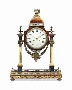 A GERMAN GILT-BRONZE MOUNTED KARELIAN BIRCH AND TORTOISESHELL STRIKING MANTEL CLOCK EARLY 19TH CENTURY, LATER ASSOCIATED FRENCH MOVEMENT