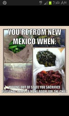 I'm not from New Mexico, but I have done this.  I have moved chiles from Colorado to Oregon, from New Mexico to California, and I have thrown away clothing in order to fit chiles into my suitcase!