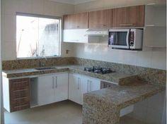 Image result for cozinha pequena+pia sob a janela