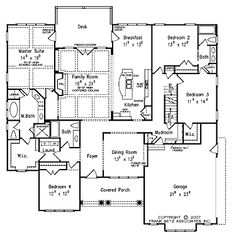 68 best one level plans images on pinterest house blueprints home plans square feet 4 bedroom 3 bathroom traditional home with 2 garage bays love love love the master suite layout in this plan malvernweather Choice Image