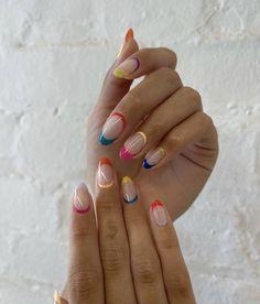 Teen Nails, Polygel Nails, Chic Nails, Stylish Nails, Round Nails, Oval Nails, Bright Nails, Funky Nails, Gorgeous Nails