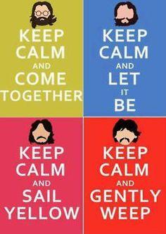 keep calm & play the beetles. cheshirechic tumblr dot com