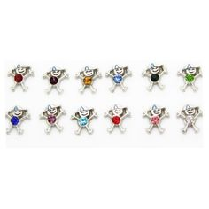 Boy Birthstone Charms $3.00