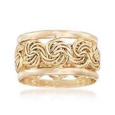 Ross-Simons - 14kt Yellow Gold Rosette Ring - #866975
