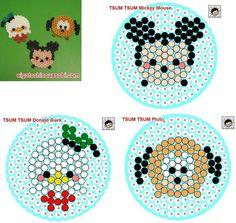 Hama Beads Disney, Diy Perler Beads, Perler Bead Art, Pearler Beads, Fuse Beads, Pearler Bead Patterns, Perler Patterns, Tsumtsum, Melting Beads