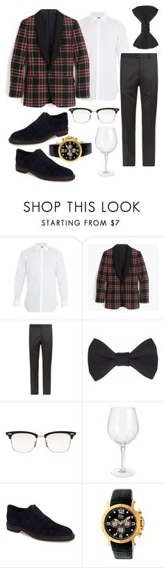 """""""Archarya Christmas- Keith"""" by jporter2 ❤ liked on Polyvore featuring J.Crew, Armani Collezioni, Thom Browne, Pier 1 Imports, Donald J Pliner, Reign, men's fashion and menswear"""