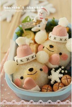 snow bears bento
