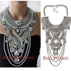 Material: zinc alloy,crystal Nice accessories to integrate jewelry case for girls and collectors Warm advice:due to complex workmanship,the amazing necklace maybe be a little bit of damaged in transit,you can try to do something to make it perfect