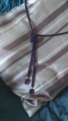 I made... It's a long purple rope....