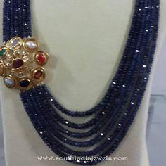 Beaded Necklace with Side Locket from Etash Diamond