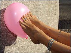 feet toes legs balloon pop jewellery