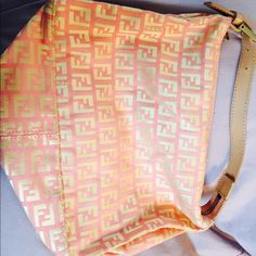 AUTHENTIC CANVAS FENDI BAG  PINK and TAN FENDI bag! Great Condition!! FENDI Bags
