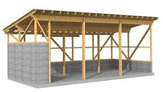 Werkplanung einer landwirtschaftlichen Maschinenhalle, Abbund vor Ort