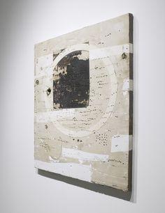 #Geometricabstraction - Hiroyuki Hamada: 1996, Sclupture #8A - Burlap, enamel…