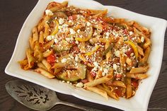 Roasted Vegi Penne Pasta Bake by www.whatscookingwithruthie.com