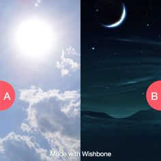 Would you rather have eternal days or nights? Click here to vote @ http://getwishboneapp.com/share/3461713