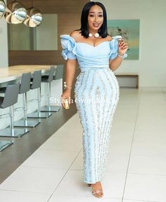 The perfect wedding guest aso ebi styles you're looking for is here. These aso ebi styles are absolutely for you as they're stunning and exotic Nigerian Lace Styles, African Lace Styles, African Lace Dresses, Latest African Fashion Dresses, African Print Fashion, Nigerian Dress, Ankara Fashion, Lace Dress Styles, Aso Ebi Styles