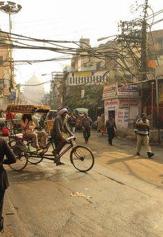 cycle rickshaw Old Delhi, via Flickr.
