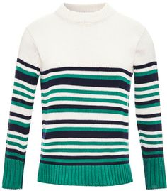 Thom Browne Striped Cotton Sweater on shopstyle.com