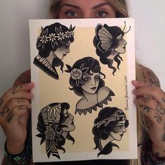 """Disponíveis para tatuar! #paint #brunayonashiro"""