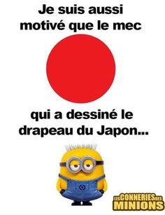 Le drapeau du Japon... ...