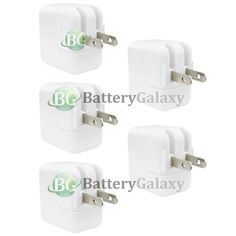 5 USB Battery Home Wall AC Charger Adapter for TAB TABLET Apple iPad 2 2nd GEN