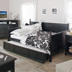 Belham Living Casey Daybed - Black - Full - Daybeds at Hayneedle