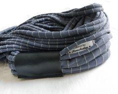 Collarpa gessata grigio-azzurra con striscia in di AlmaLadra