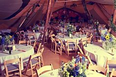 Louise and Matthew's 'Flower Crowns and Tipi's' 70′s Wedding. By Ian Shoots Weddings
