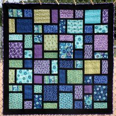 This is a great pattern for a baby quilt or a lap quilt. Great flexibility on colors and size.