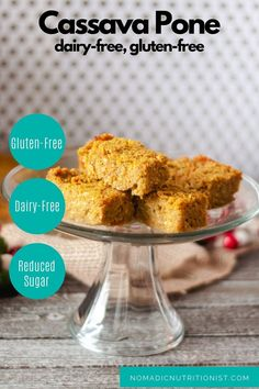 Cassava Pone is cross between a cake and a pudding. It's a dessert made all over the Caribbean around Christmas. Made with a variety of root vegetables like cassava, sweet potato, and yam, dried coconut, pumpkin, raisins, and and spices, this is a versatile, gluten-free dessert. #cassava #cassavapone #christmasdessert #glutenfree #dairyfree #Trinidad #caribbeanrecipe Gluten Free Recipes For Breakfast, Healthy Dessert Recipes, Gluten Free Desserts, Healthy Snacks, Snack Recipes, Cassava Pone, Recipe Adjuster, Dry Coconut, Kinds Of Desserts