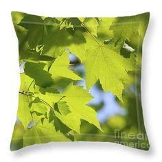 Dappled Sunlight Throw Pillow by Sandra Huston