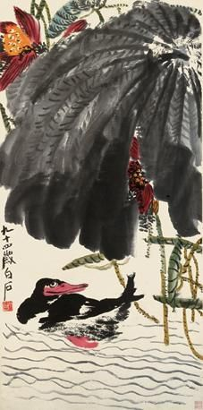 Qi Baishi - LOTUS AND DUCK
