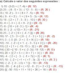 De Tudo Estudando: expressões numéricas-matemática