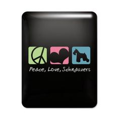 Peace, Love, Schnauzers iPad Case