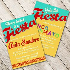 Fiesta Party Invitations / Cinco de Mayo by WrappedToPerfection