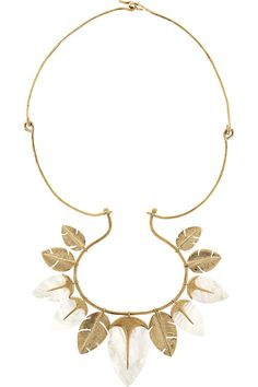 Aurélie Bidermann | Talitha gold-plated mother-of-pearl necklace | NET-A-PORTER.COM