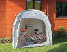 Bravindew Bicycle Shed Motorcycle Bike Protective Waterproof portable Lightweight Outdoor Storage Tent Space Saving Garden Lawn Patio Backyard Pool Tools Storage Shed Covers For Camping -- (paid link) More info could be found at the image url.