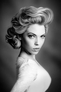 Updo possibility. Vintage meets modern.