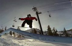 """One of the major perks of being a professional snowboarder, a really bada*s professional snowboarder that is, is that if you're not having fun in one place, say Colorado, you can always just pack up and head to another places, say California. Torstein Horgmo felt that things were getting a little """"sharky"""" in Colorado so he headed over to Mammoth for some California style shred time."""